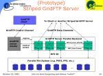prototype striped gridftp server