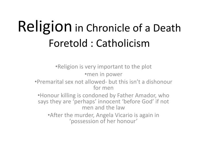 ideas and issues in the visit and a chronicle of a death foretold essay