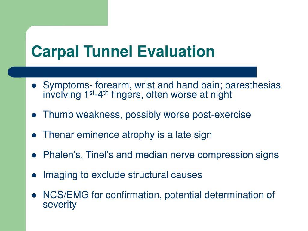 Carpal Tunnel Evaluation