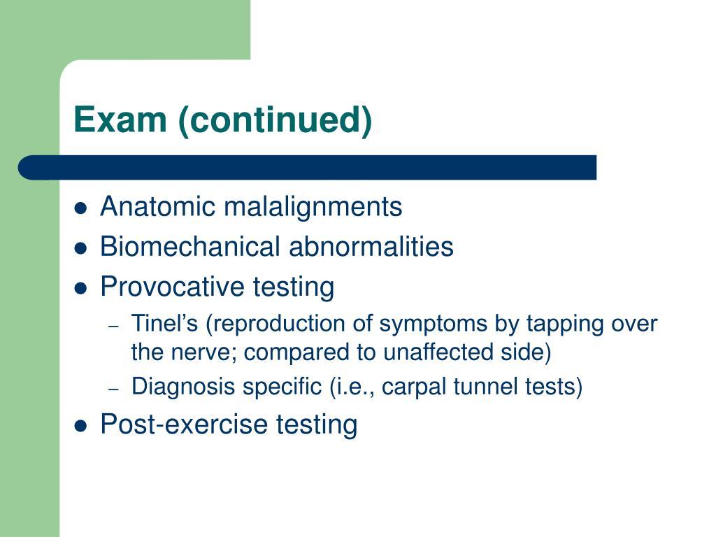 Exam (continued)
