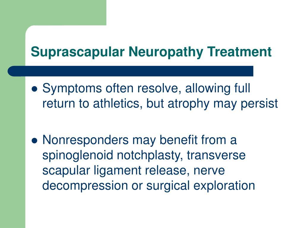 Suprascapular Neuropathy Treatment