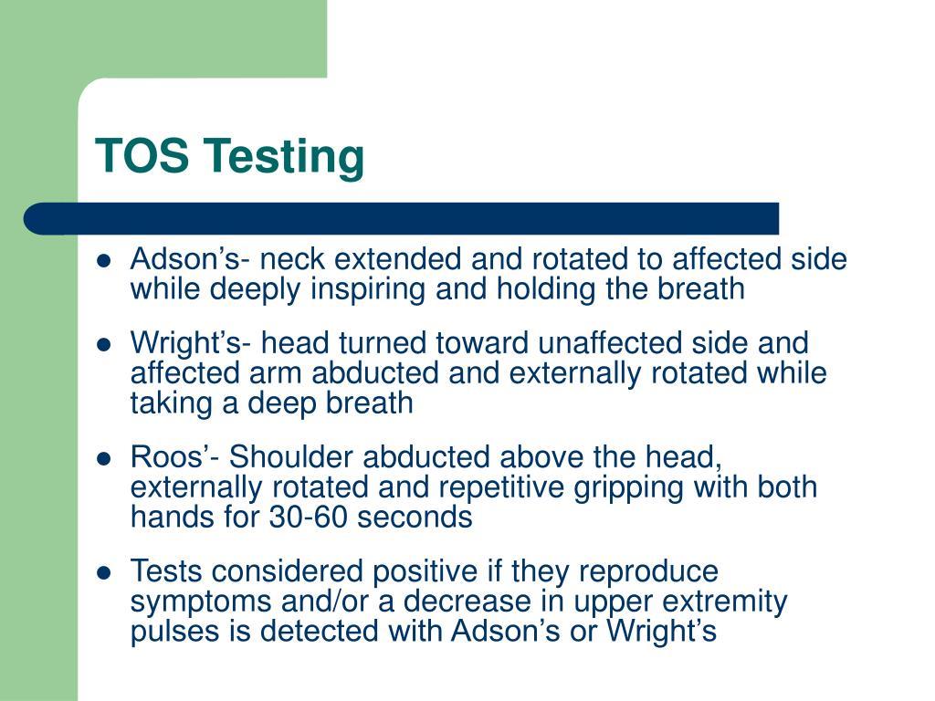 TOS Testing