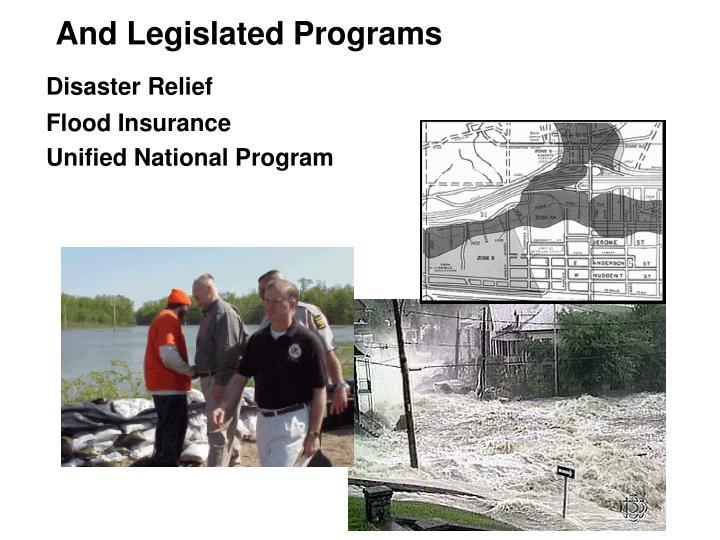 And Legislated Programs