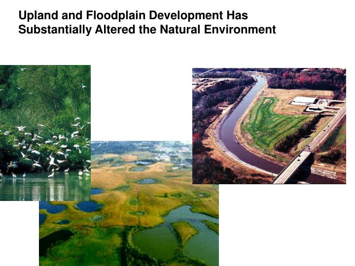 Upland and Floodplain Development Has                    Substantially Altered the Natural Environment