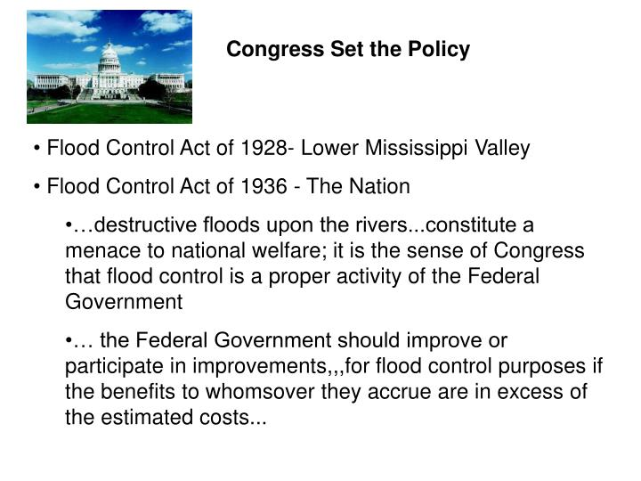 Congress Set the Policy