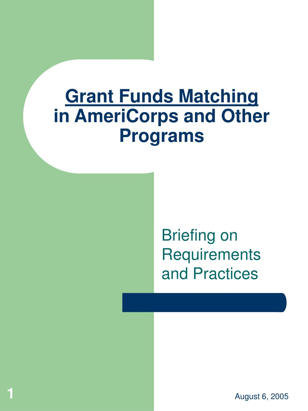 Grant Funds Matching