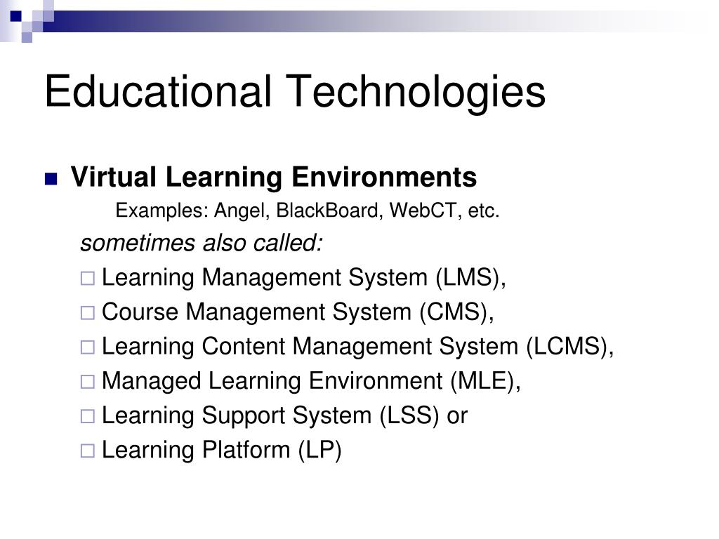 Educational Technologies