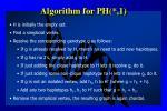 algorithm for ph 1
