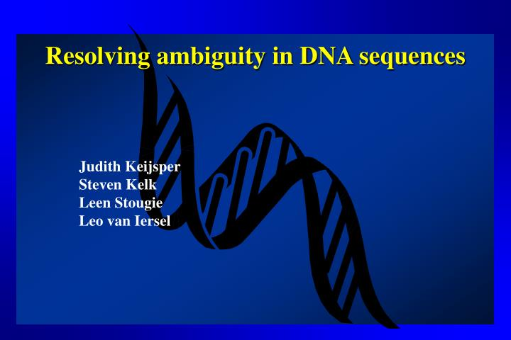 resolving ambiguity in dna sequences