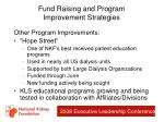fund raising and program improvement strategies36