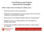 fund raising and program improvement strategies43