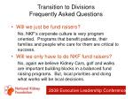transition to divisions frequently asked questions75