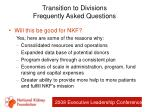 transition to divisions frequently asked questions81