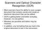 scanners and optical character recognition ocr