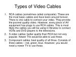 types of video cables