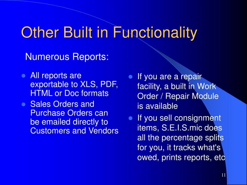 All reports are exportable to XLS, PDF, HTML or Doc formats