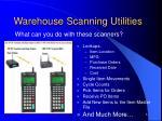 warehouse scanning utilities