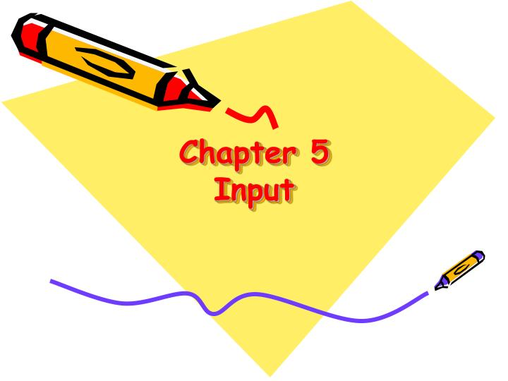 Chapter 5 input