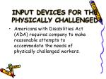 input devices for the physically challenged