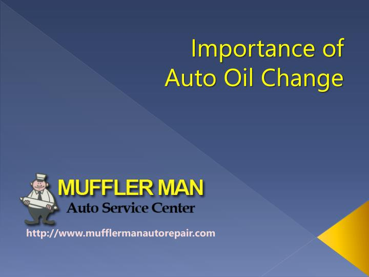 Importance of Auto Oil Change