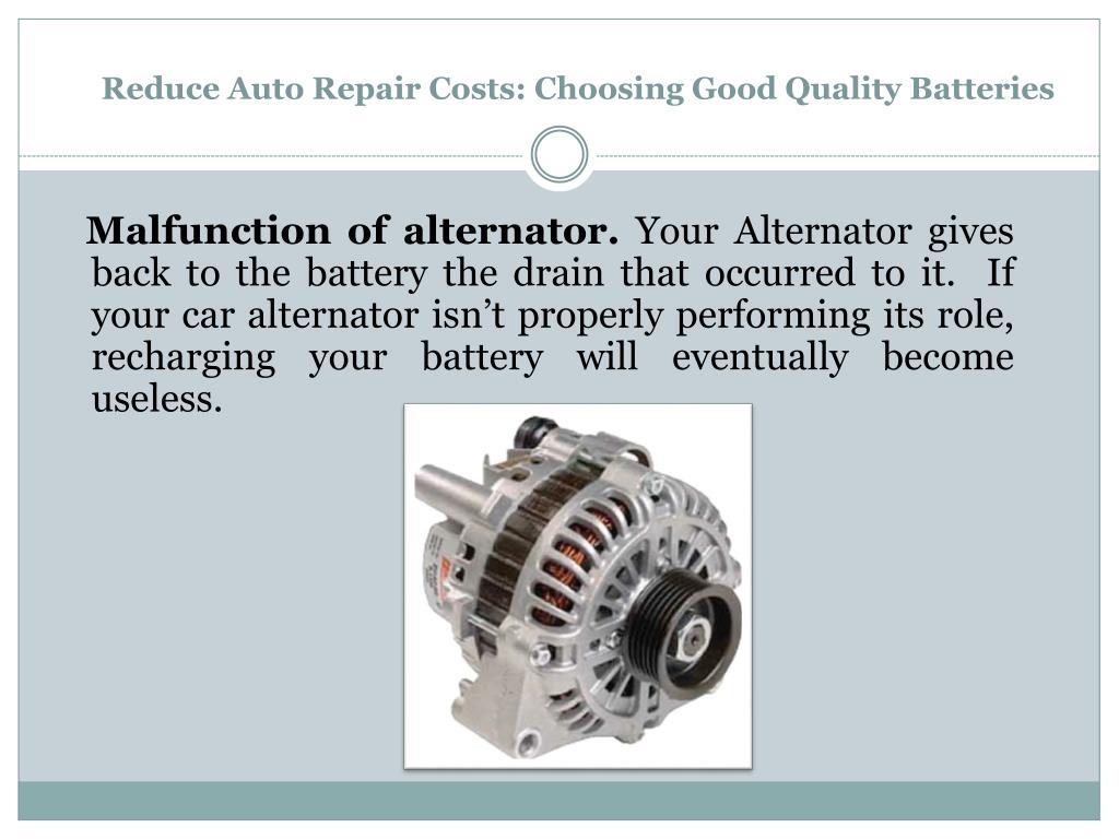 Reduce Auto Repair Costs: