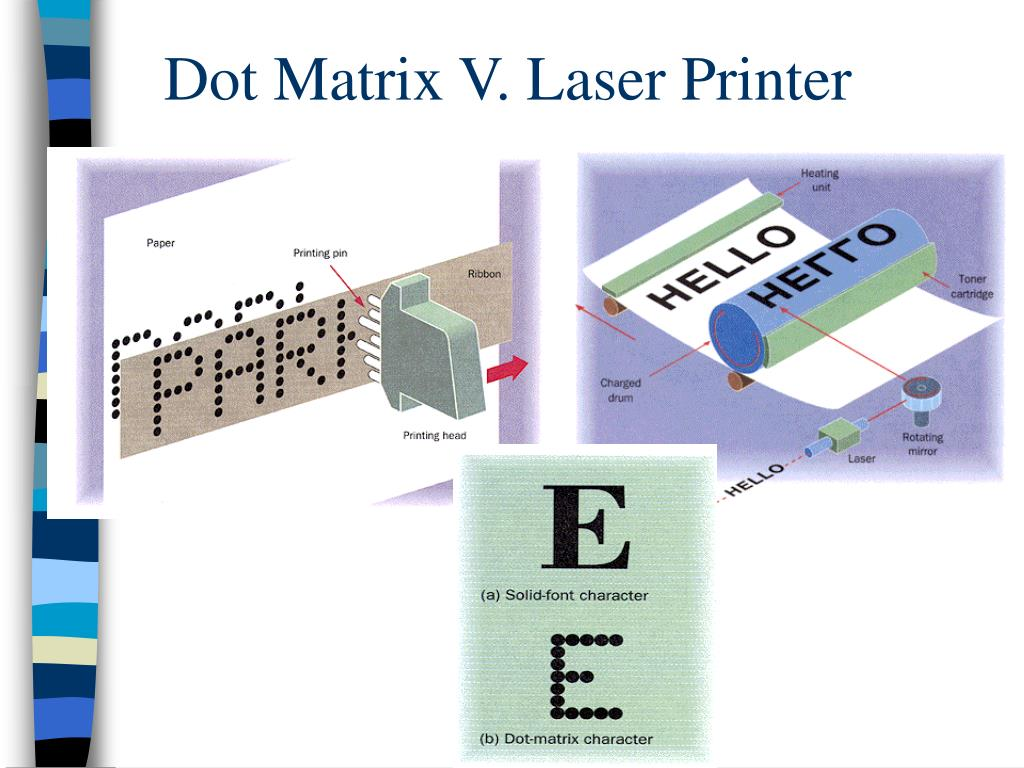 Dot Matrix V. Laser Printer