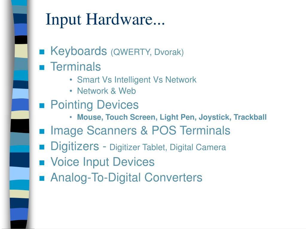 Input Hardware...