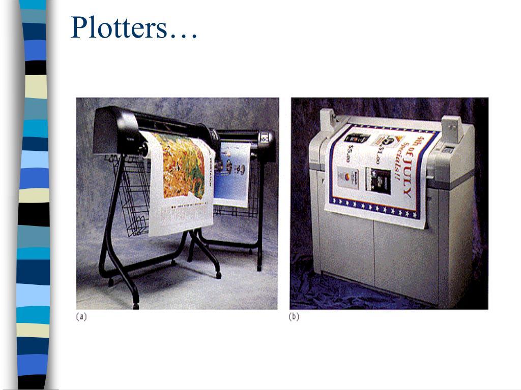 Plotters…