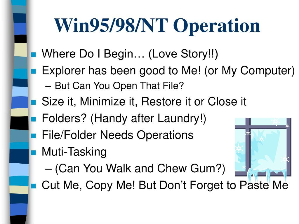 Win95/98/NT Operation
