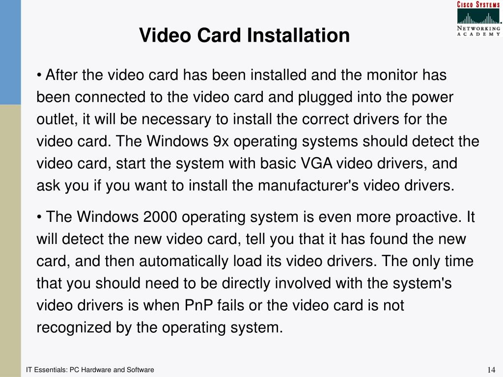 Video Card Installation