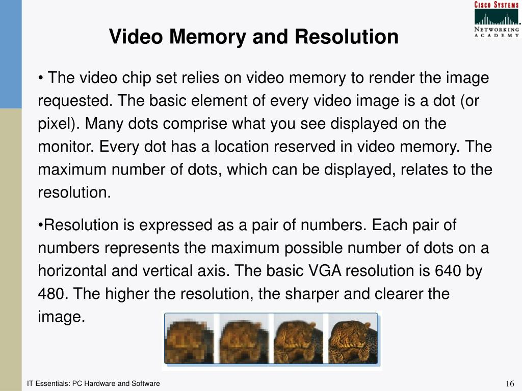Video Memory and Resolution