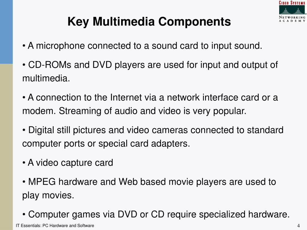 Key Multimedia Components