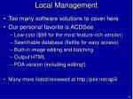 local management39