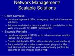 network management scalable solutions