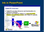 ink in powerpoint