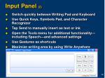 input panel 2