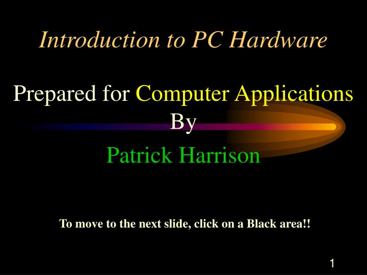 introduction to pc hardware n.