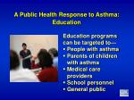 a public health response to asthma education