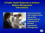 a public health response to asthma medical management interventions