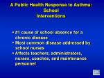 a public health response to asthma school interventions1