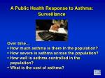 a public health response to asthma surveillance
