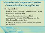 motherboard components used for communication among devices20