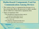 motherboard components used for communication among devices21