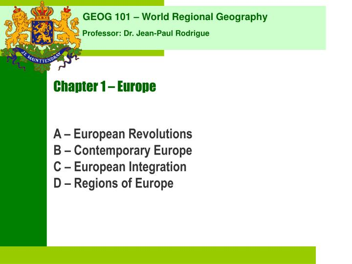 chapter 1 europe n.