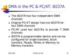 dma in the pc pc at i8237a