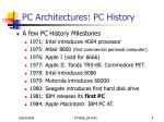 pc architectures pc history4