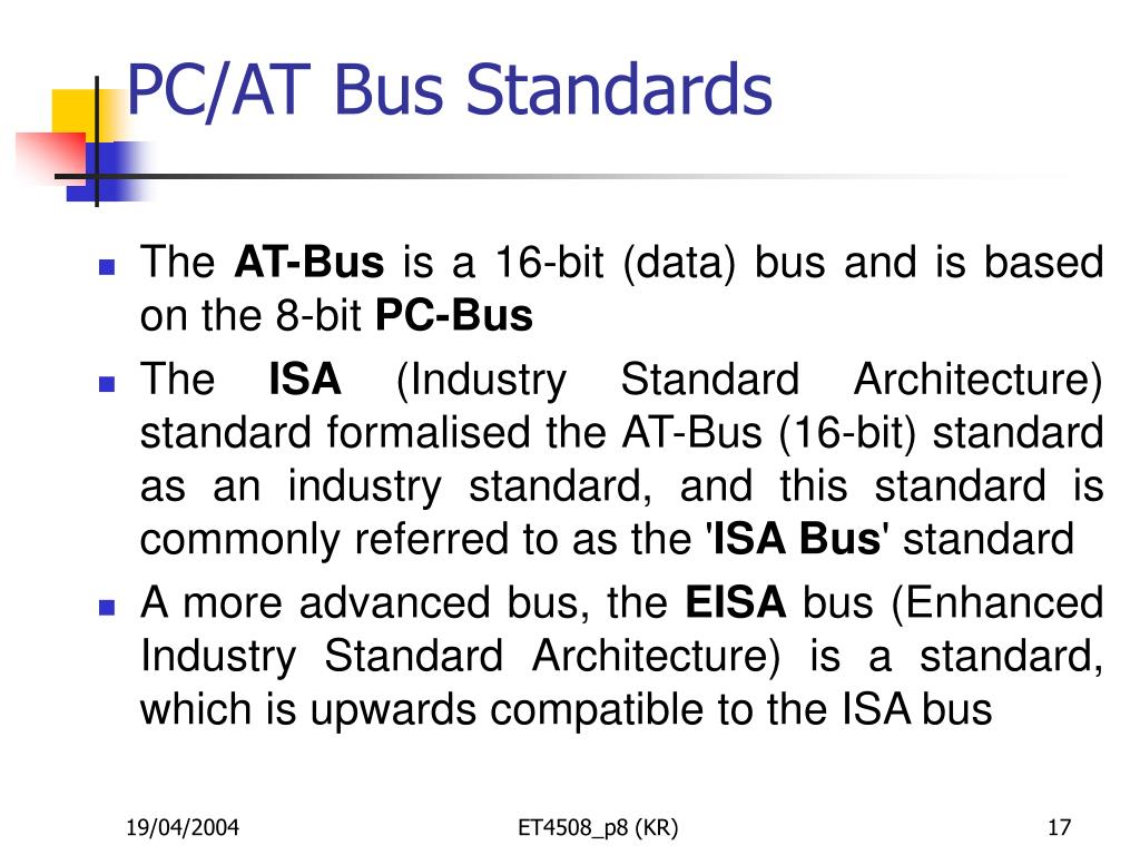 PC/AT Bus Standards