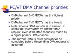 pc at dma channel priorities