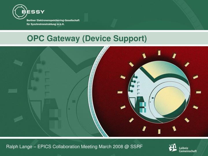 Opc gateway device support