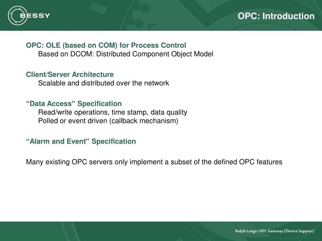 OPC: Introduction